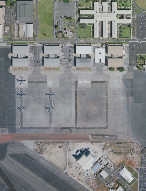 Project Controls-Pacific Air Forces Headquarters Building-Aerial View